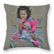 Mdina Girl Throw Pillow