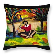Me And Mom  Throw Pillow