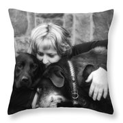 Me And My Pals Throw Pillow