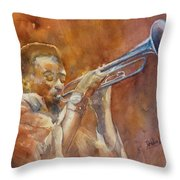 Me And My Trumpet Throw Pillow