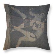 Me Fighting Bill Waits 1954 Throw Pillow