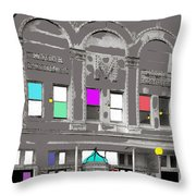 Meaders Theater 1919 Washington D.c. 1919-2010 Throw Pillow