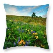 Meadow Gold Throw Pillow
