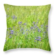 Meadow Lupine Throw Pillow