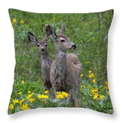 Meadow Meal Throw Pillow