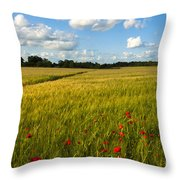 Meadow Of Poppies Throw Pillow