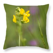 Meadow Vetchling Throw Pillow