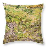 Meadow With Butterflies Throw Pillow