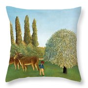 Meadowland. The Pasture  Throw Pillow