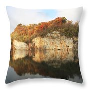 Mead's Quarry In Autumn Throw Pillow