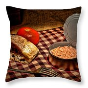 Meager Lunch Throw Pillow