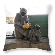 Meal Time Throw Pillow