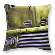 Mean Green Ford Truck Throw Pillow