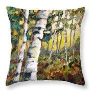 Meandering Woods Throw Pillow