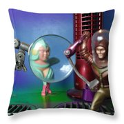 Meanwhile Aboard The Mothership Throw Pillow