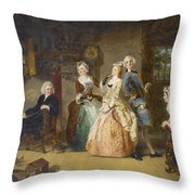 Measuring Heights Throw Pillow