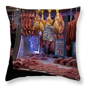 Meat Market    Athens   #6697 Throw Pillow