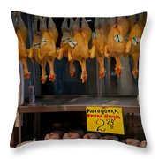 Meat Market   Athens   #6747 Throw Pillow