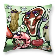 Meats Protein Food Group Throw Pillow