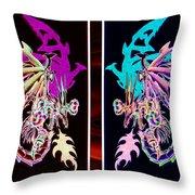 Mech Dragons Pastel Throw Pillow