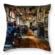 Mechanical Works Throw Pillow