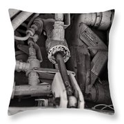 Mechanicals Bw Throw Pillow
