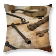 Mechanic's Tools Throw Pillow