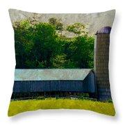 Mechanisville Md Farm Throw Pillow
