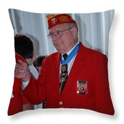 Medal Of Honor Recipient Throw Pillow