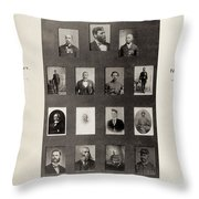 Medal Of Honor Recipients Throw Pillow
