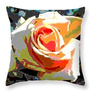 Medallion Rose Throw Pillow