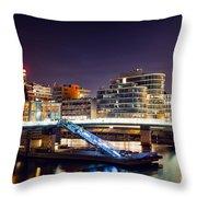 Media Harbor Dusseldorf Throw Pillow