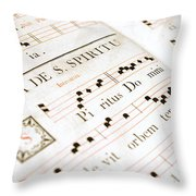 Mediavel Chorus Book  Throw Pillow by Fabrizio Troiani