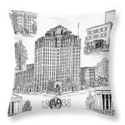 Medical College Of Virginia Throw Pillow