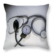 Medical Instruments Throw Pillow