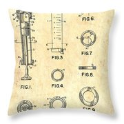 Medical Syringe Patent 1954 Throw Pillow