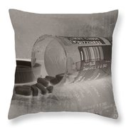 Medication 5 Throw Pillow