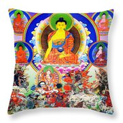 Medicine Buddha 12 Throw Pillow