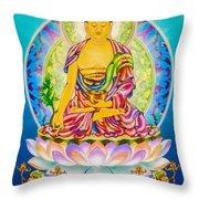 Medicine Buddha 7 Throw Pillow