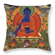 Medicine Buddha 8 Throw Pillow