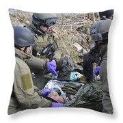 Medics Of The British Special Forces Throw Pillow