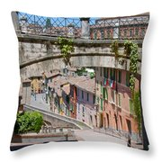Medieval Aqueduct Throw Pillow