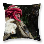 Medieval Barbarian Artur And Spirit Throw Pillow
