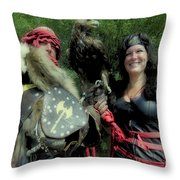 Medieval Barbarian Couple Throw Pillow