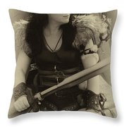 Medieval Barbarian Eriana Iceni 2 Throw Pillow