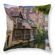 Medieval Bruges Throw Pillow by Juli Scalzi