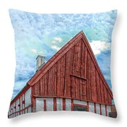 Medieval Building Throw Pillow by Antony McAulay