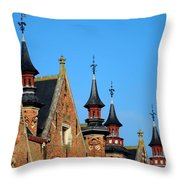 Medieval Buildings Towers And Vanes Throw Pillow