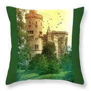 Medieval Castle - Old World  Throw Pillow