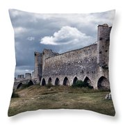 Medieval City Wall Defence Throw Pillow